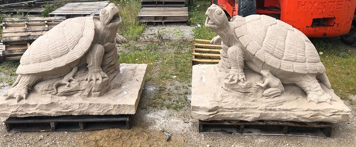 Limestone Animal Carvings